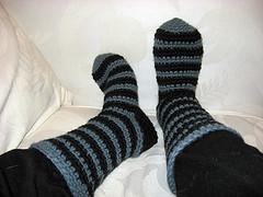 20090428 - finished Seussian Slipper Socks