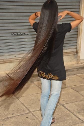 LongHairThais Knee Length Hotie Bun 2 Knee Length Hair