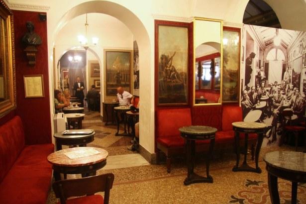 Image result for Antico Café Greco interior