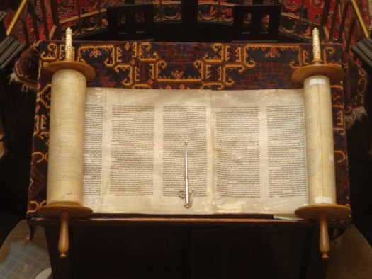 A Torah scroll. Image via Flickr user Lawrie Cate