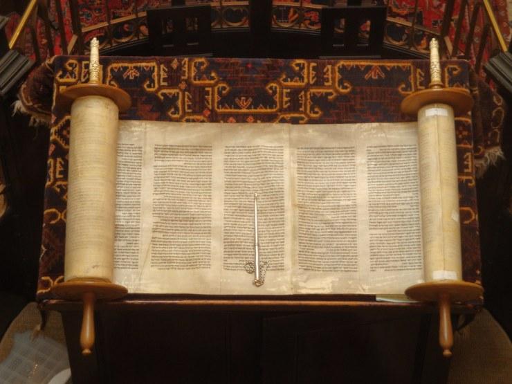 A Torah scroll. Image via Flickr user Lawrie Cate