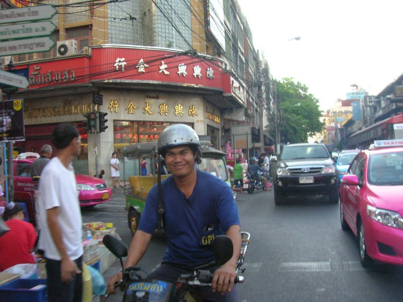 You have to smile at the Bangkok Traffic