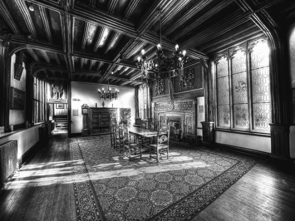The upstairs dining room.