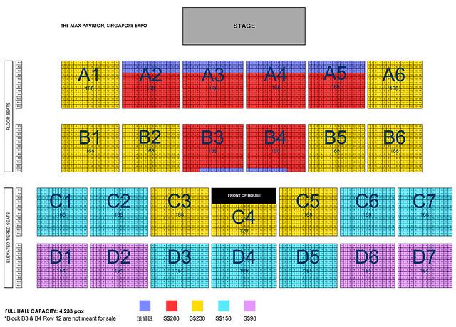Hwang Chiyeul Singapore Mini Concert Seating Plan
