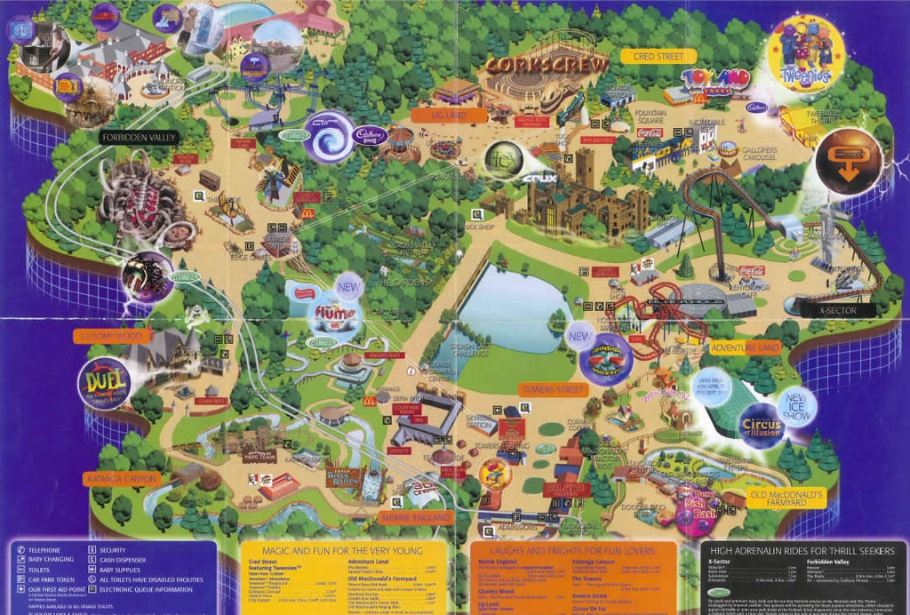 Alton Towers 2004 Park Map   Alton Towers 2004 Park Map   Flickr     Alton Towers 2004 Park Map   by ThemeParkMedia