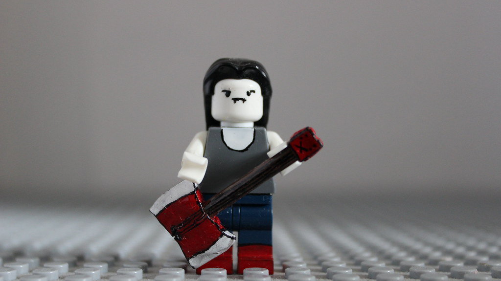 Custom LEGO Marceline   From Adventure Time  Her Axe Bass is      Flickr Custom LEGO Marceline   by FlamingBrickFilms Custom LEGO Marceline   by  FlamingBrickFilms