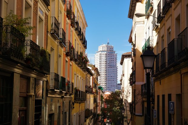 Torre de Madrid seen from Noviciado district