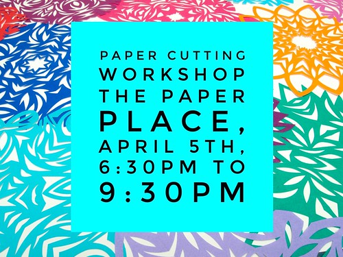 Paper cutting workshop at The Paper Place in Torono
