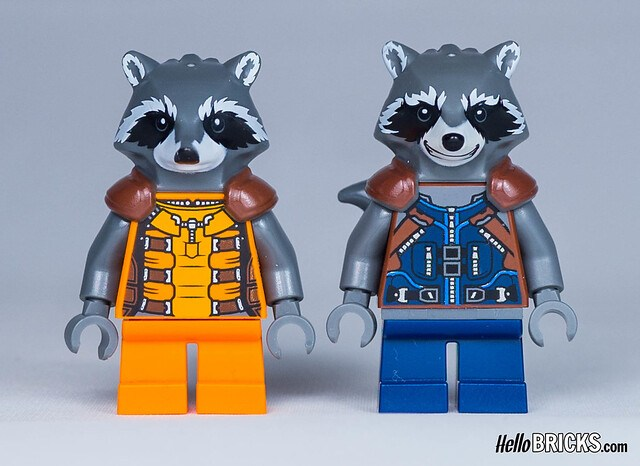 LEGO Guardians of The Galaxy - Minifigures comparison