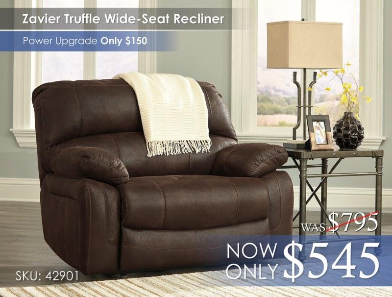 Zavier Truffle Wide Seat Recliner 42901-52