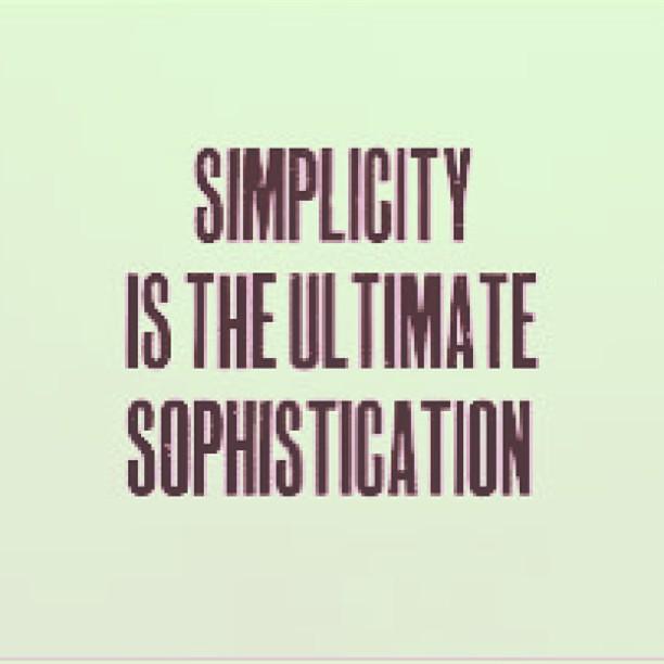 simplicity mantra