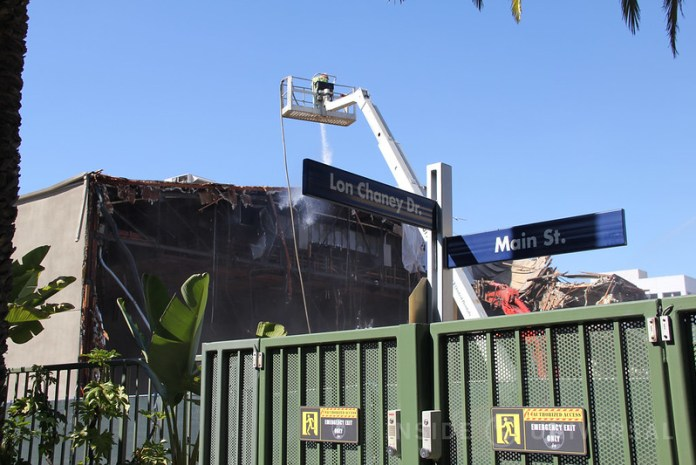 Soundstages 22-25 have been demolished at Universal Studios