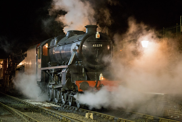 LMS 5MT 45379 photo shoot at Ropley