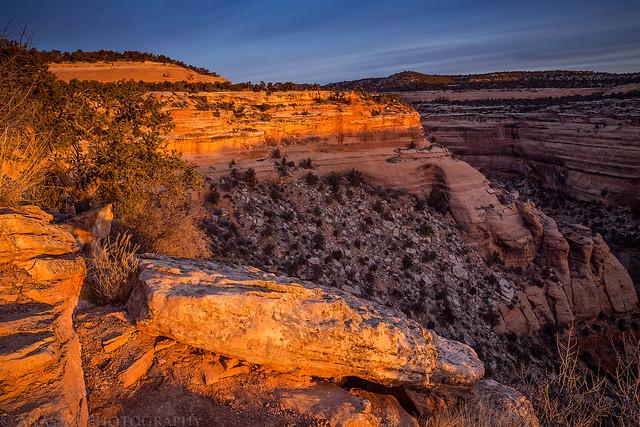 Upper Ute Canyon Sunrise