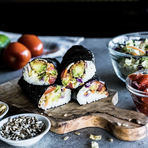 crispy avocado southwest sushi wraps