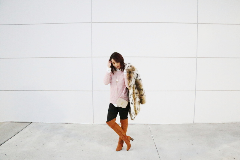 report-shoes-over-the-knee-boots-faux-leopard-print-coat-ysl-bag-4