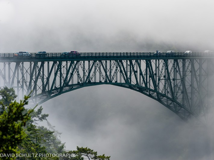 Image result for Deception Pass Bridge in fog