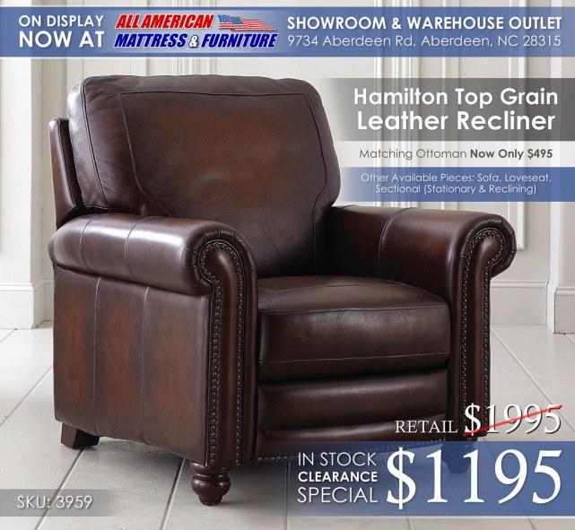Hamilton Bassett Furniture Recliner 3959_New