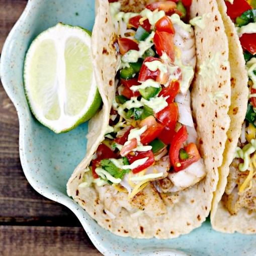 Taco tuesday cajun fish tacos sweet beginnings blog for Cajun fish tacos