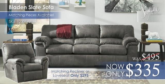 Bladen Slate Sofa 12001-38-SET