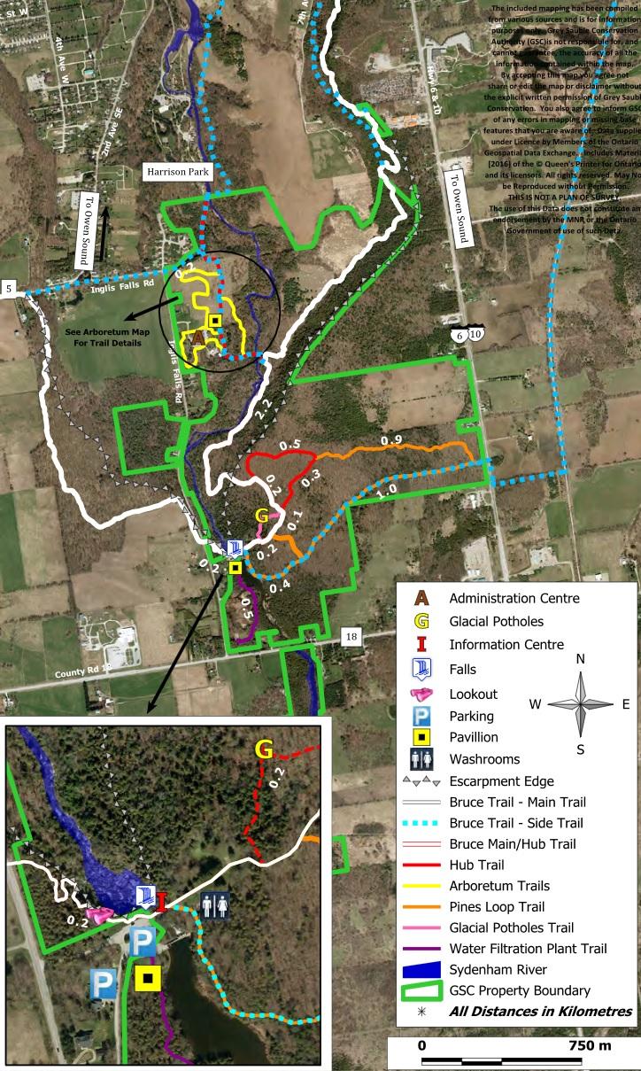 Inglis Falls Trail Map