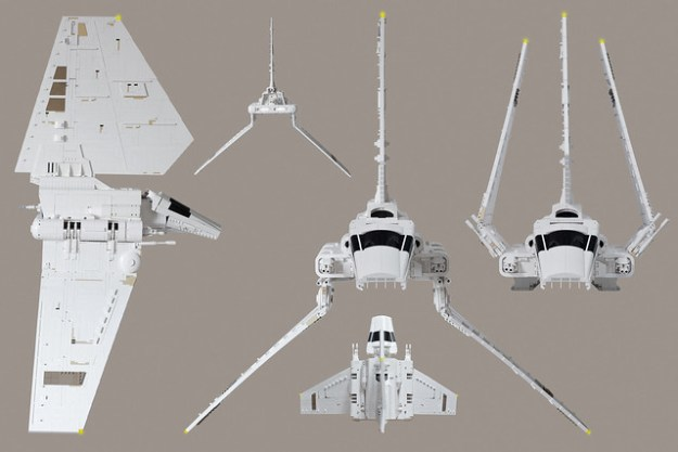 Minifigure Scale Star Wars Imperial Shuttle Tydirium Made From Over