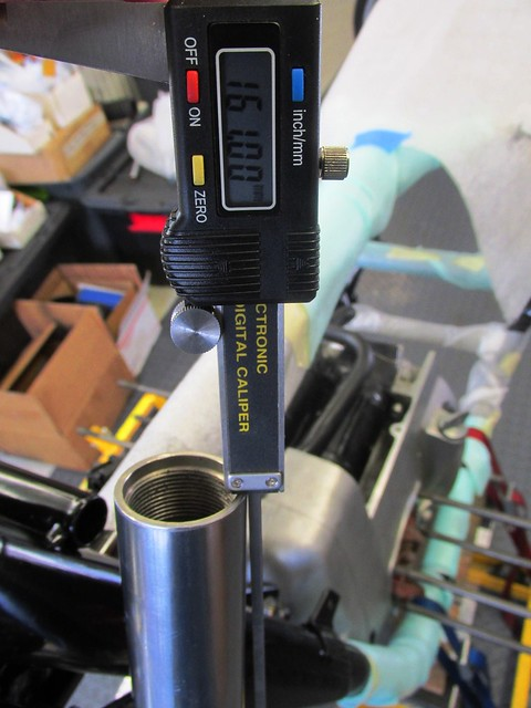 Adjusted Fork Tube Height to Meet Toaster Tan Sleeve Depth Height