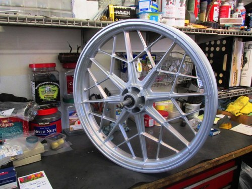 Powder Coated Front Wheel with New Wheel Bearings Ready to Roll