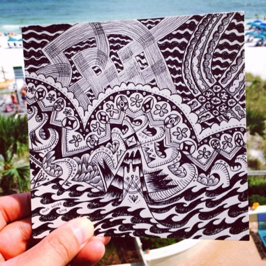 Seas Emergence - Drawing while at the beach.