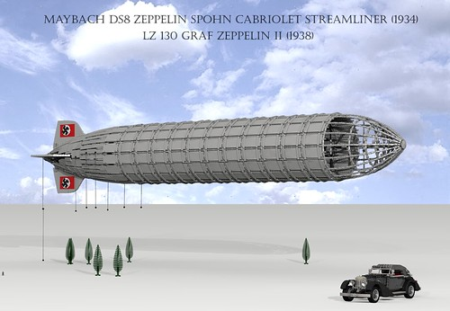 Graf Zeppelin II Airship (1937) and Maybach DS8 Zeppelin C ...