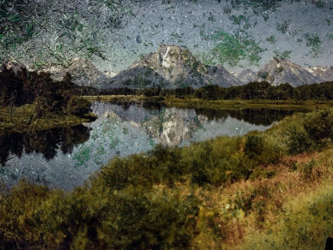 Tent-Camera-Image-On-Ground-View-of-Mount-Moran-and-the-Snake-River-From-Oxbow-Bend-Grand-Teton-National-Park-Wyoming