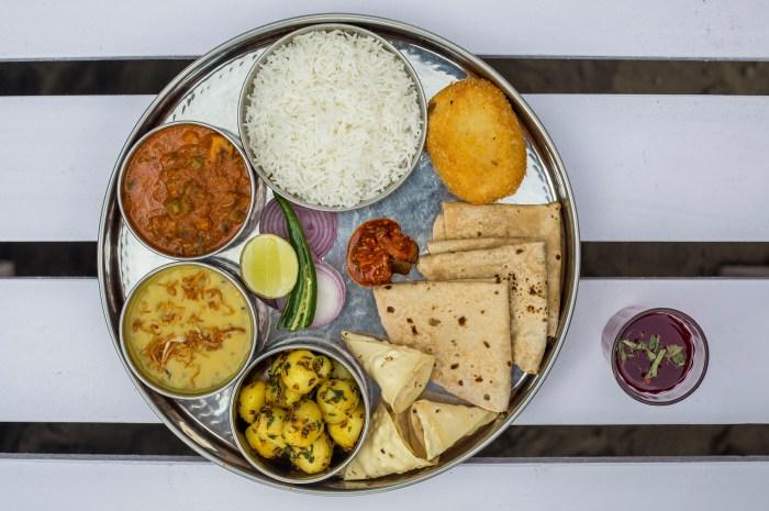 hungrynomads lady baga navratra special menu vegetarian thali