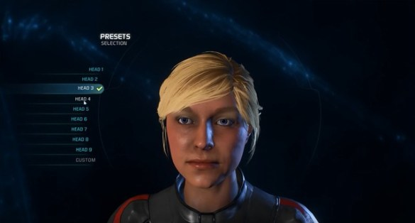 Mass Effect Andromeda - Female Head 3
