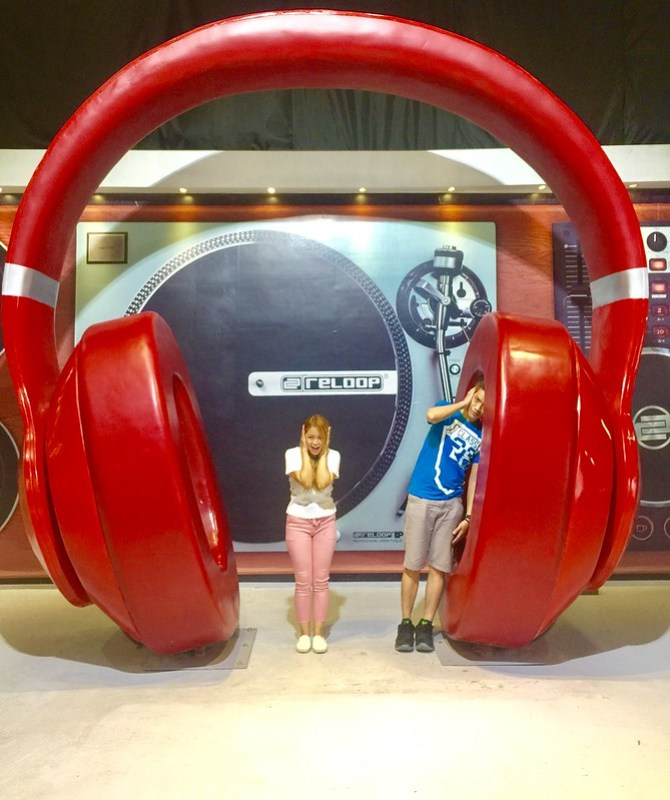 Upside Down Museum Giant Headset