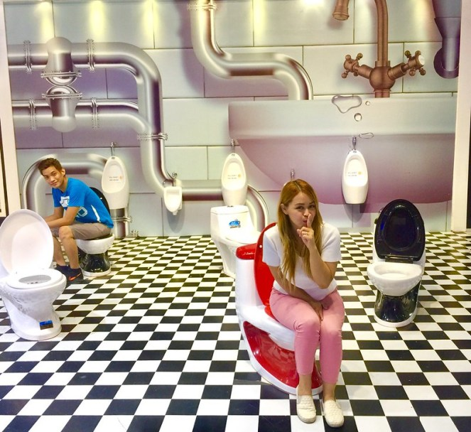 Upside Down Museum Toilet