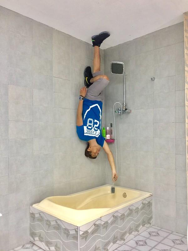 Upside Down Museum Bathroom