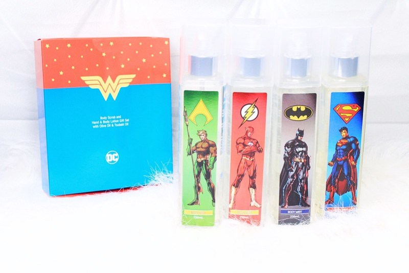 TWB Justice League Aqua man, The Flash, Batman, Superman Body Mists