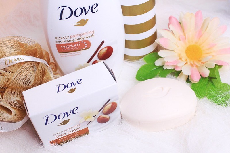 Dove Shea Butter with Warm Vanilla Body Wash and Soap
