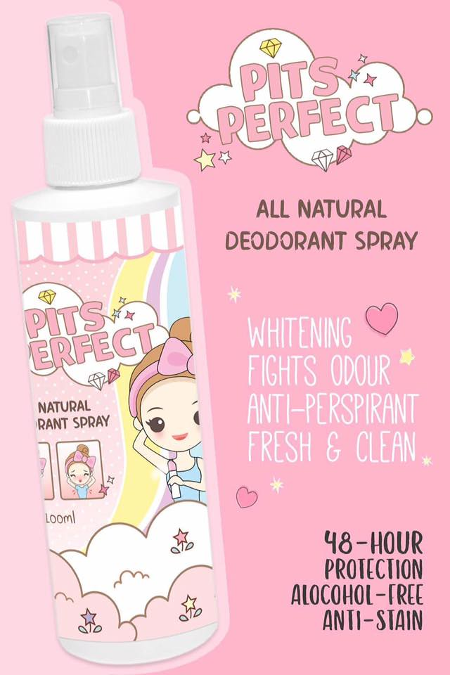 Pits Perfect All Natural Deodorant Spray
