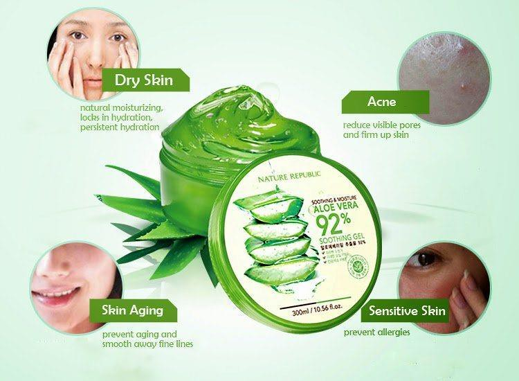 Nature Republic Aloe Vera 92% Soothing Gel; the Star of my Beauty Routine