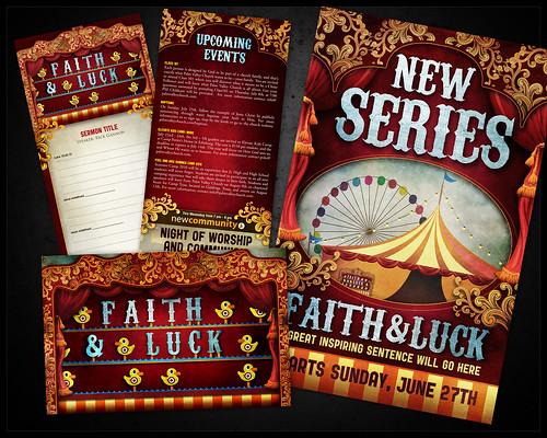 Faith & Luck Series Art | Goal: Sermon series branding for ...