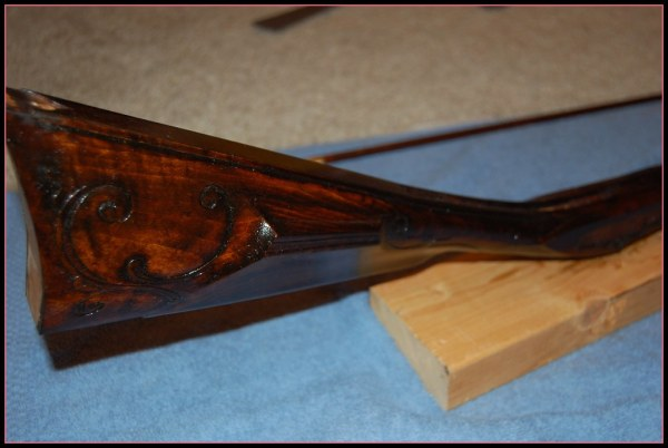 Flintlock Rifle | Stained and Tru Oil seal coat - final ...