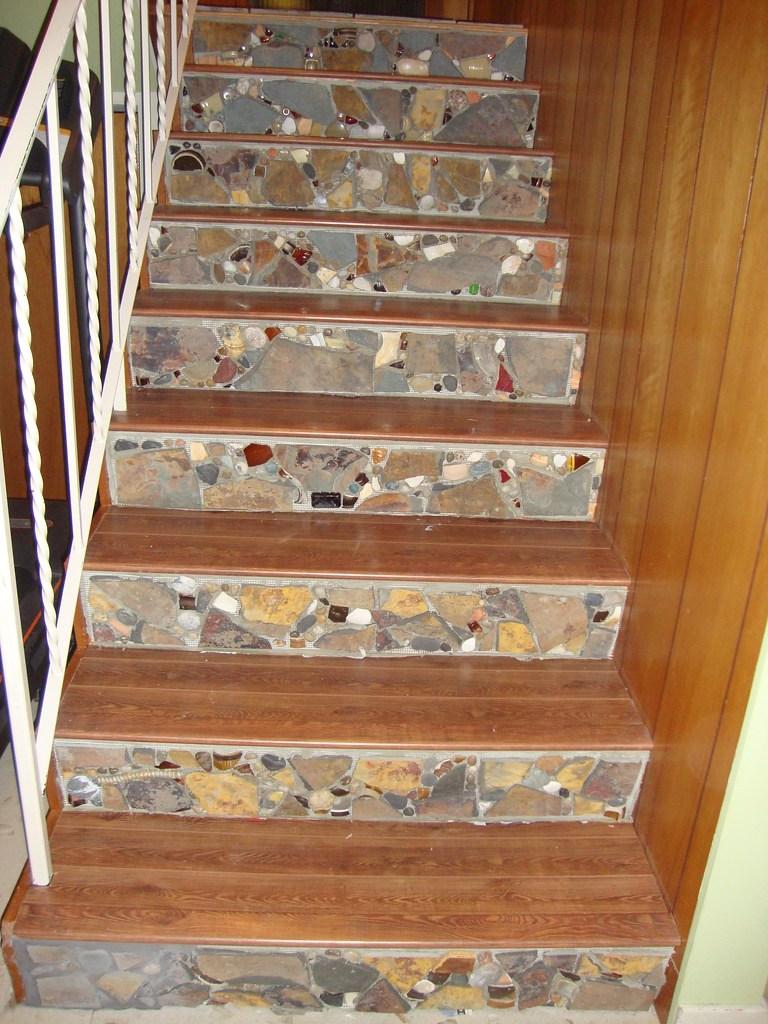 Jan Feb 2010 Mosaic Stair Risers 9 Stairs Going Down   Stair Riser Tiles Designs