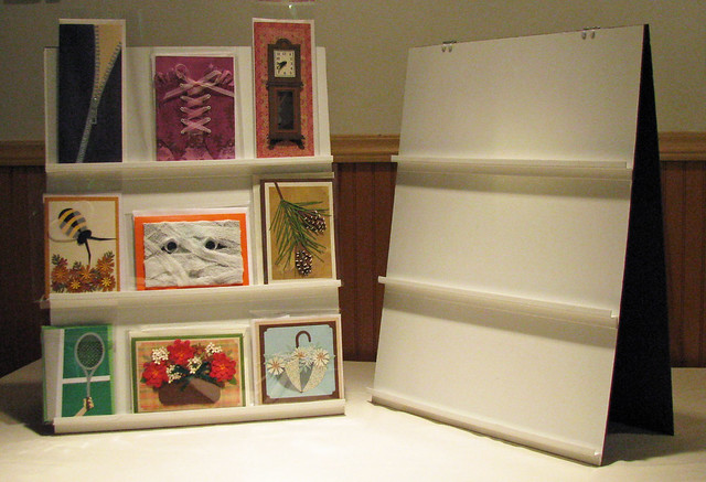 Tabletop Card Display Cheap And Easy Flickr Photo