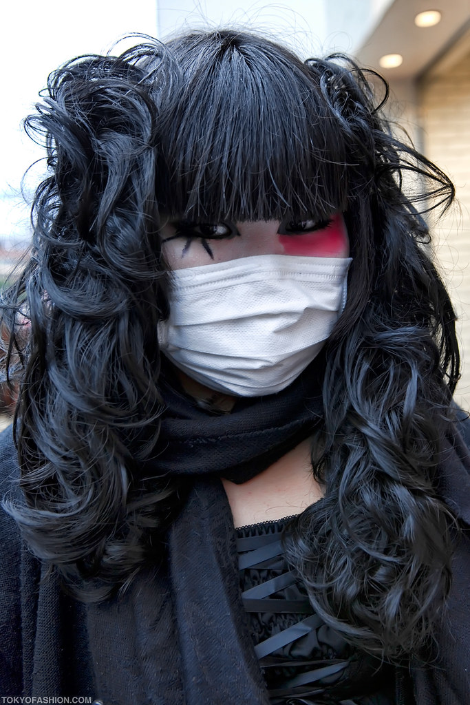Japanese Mask Girl A Japanese Girl In Harajuku With
