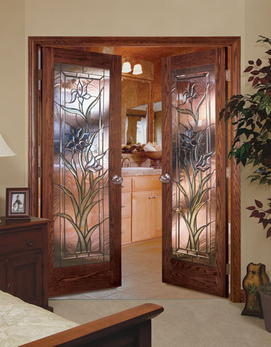 Feather River Door Wood Interior Doors Sweet Iris In Red