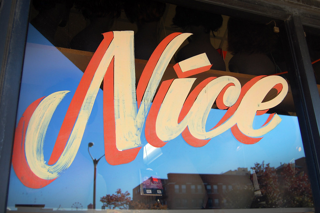 Nice A Beautiful Sign For A Beauty Supply Shop Downtown