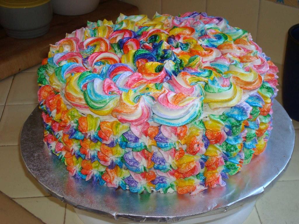 Jeffparkercooks Tie Dyed Cake For Chloe