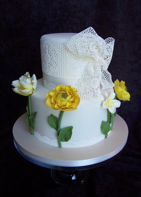 Grandma S Lace Birthday Cake Sugar Veil Lace Amp Gumpaste