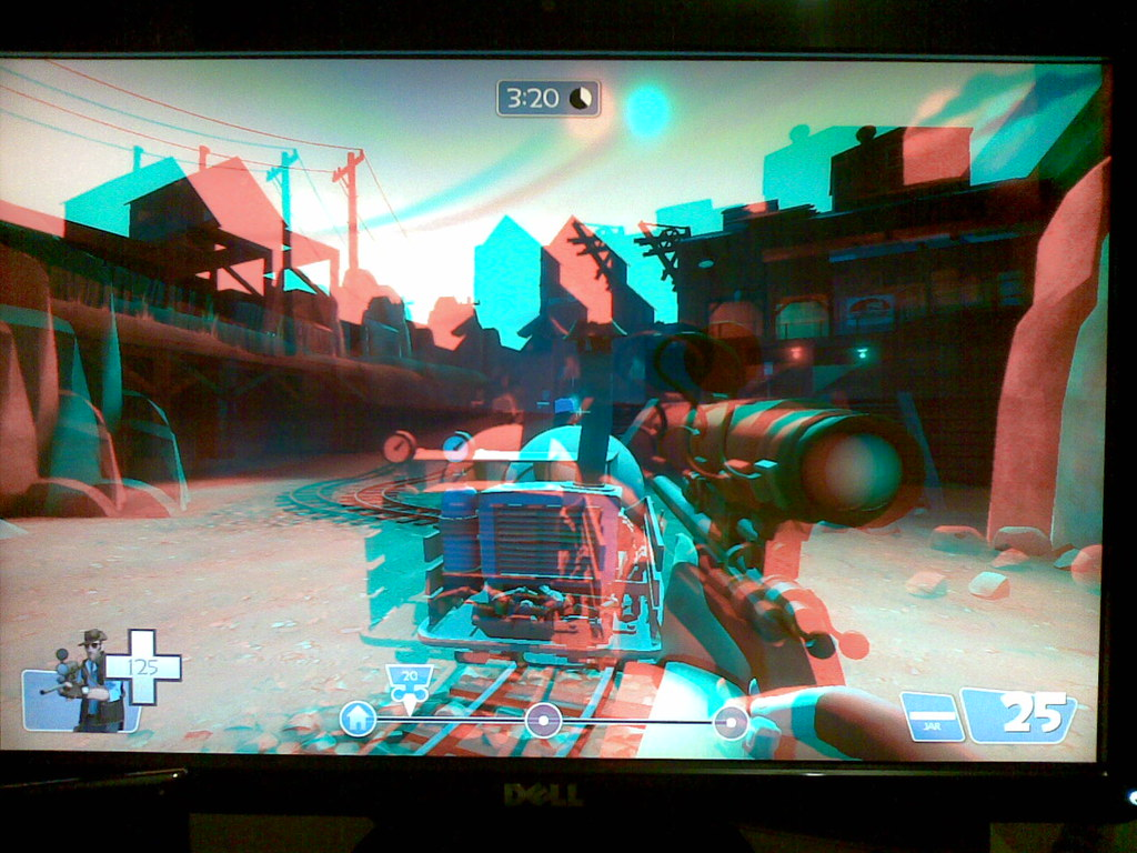 Tf2 In Anaglyphic Stereoscopic 3d Had A Pair Of Red Blue